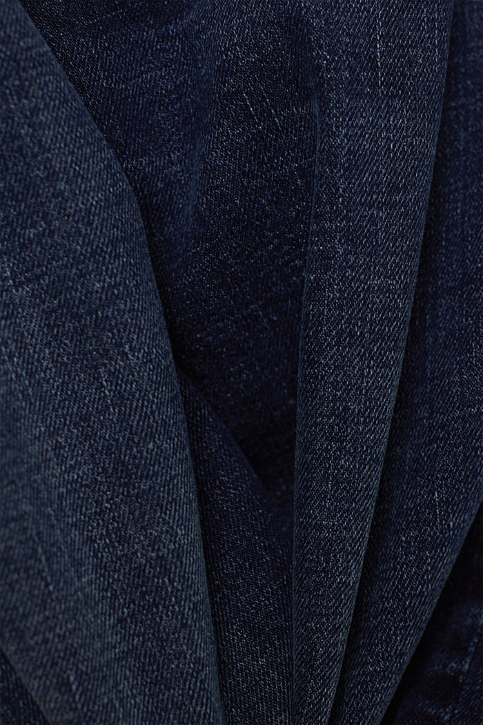 Chino en jean en coton biologique, BLUE DARK WASHED, detail image number 4