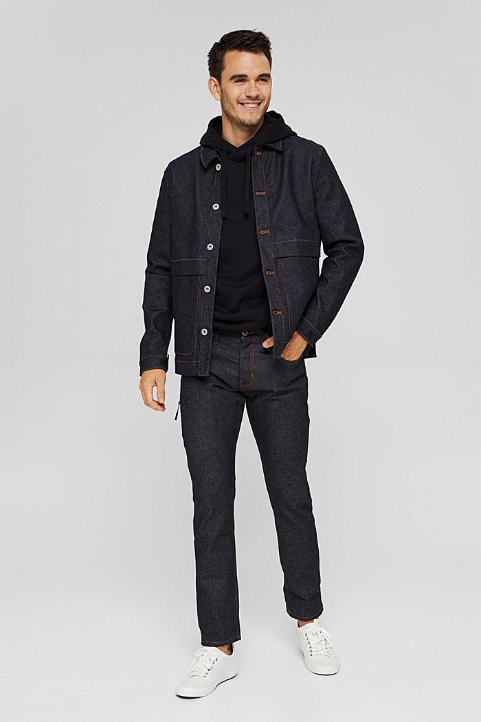#ReimagineFlexibility: reflective jeans, BLUE RINSE, detail image number 2