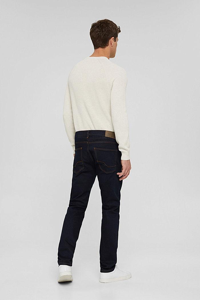 Stretch-Jeans aus Bio-Baumwoll-Mix, BLUE RINSE, detail image number 1
