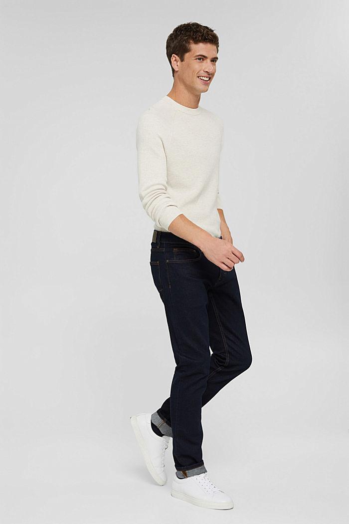 Stretch-Jeans aus Bio-Baumwoll-Mix, BLUE RINSE, detail image number 8