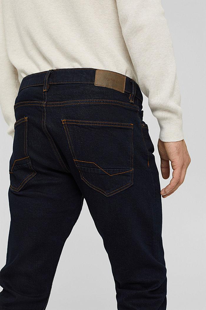 Stretch-Jeans aus Bio-Baumwoll-Mix, BLUE RINSE, detail image number 6