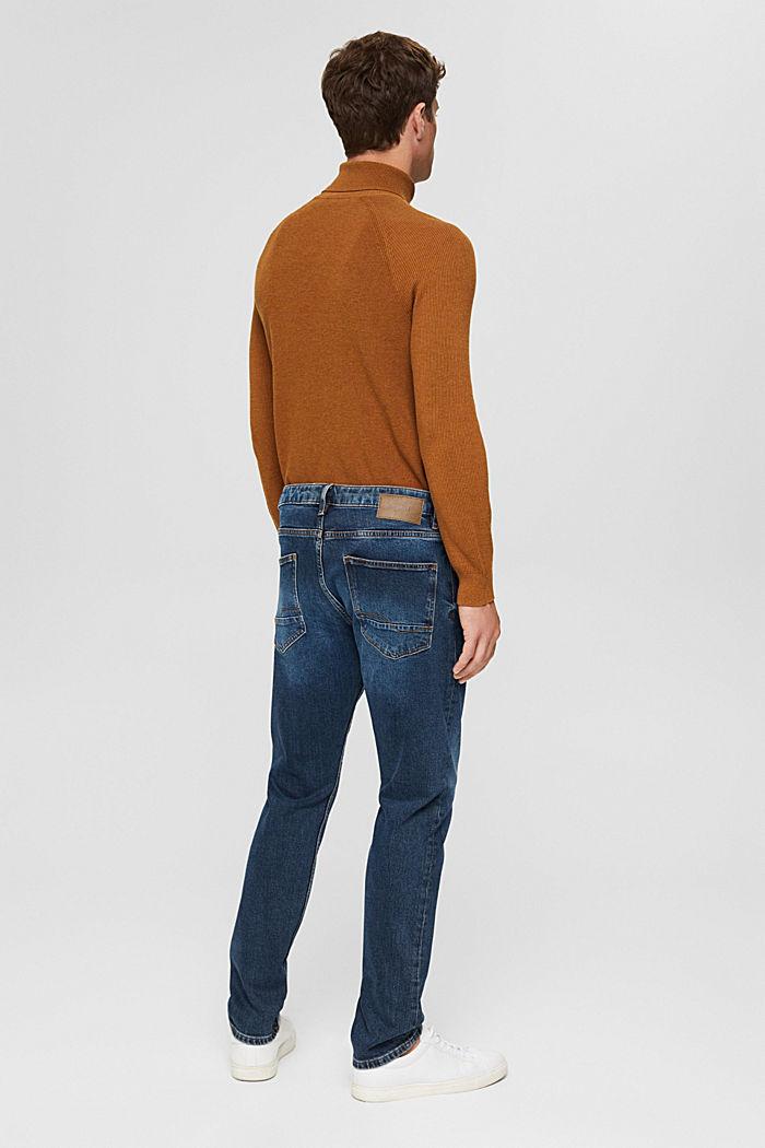 Stretch-Jeans aus Bio-Baumwoll-Mix, BLUE DARK WASHED, detail image number 1