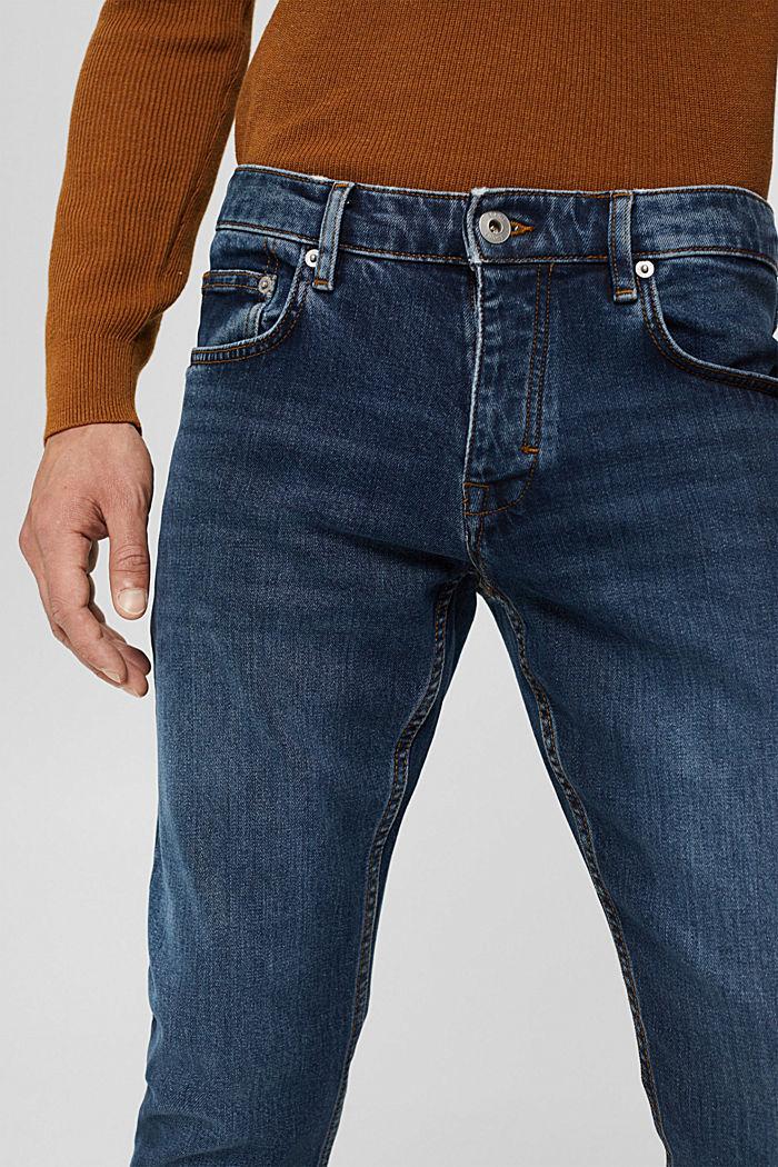 Stretch-Jeans aus Bio-Baumwoll-Mix, BLUE DARK WASHED, detail image number 3