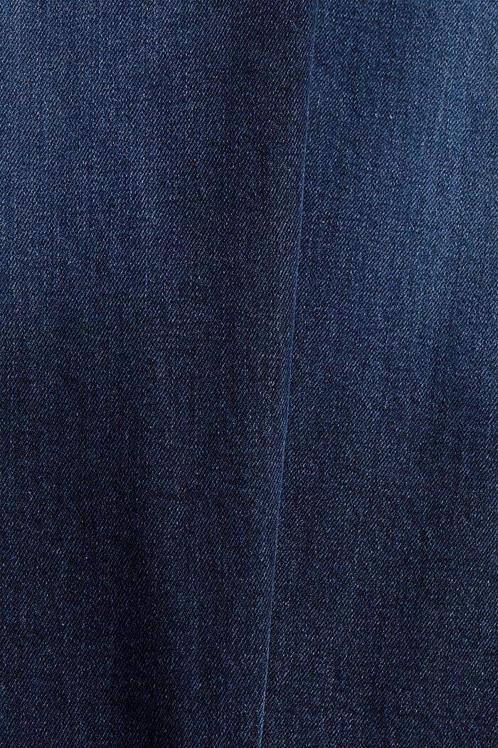 Stretch-Jeans aus Bio-Baumwoll-Mix, BLUE DARK WASHED, detail image number 4