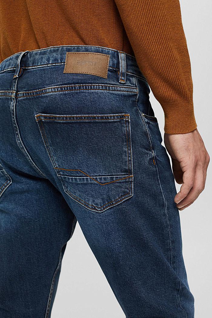 Stretch-Jeans aus Bio-Baumwoll-Mix, BLUE DARK WASHED, detail image number 5