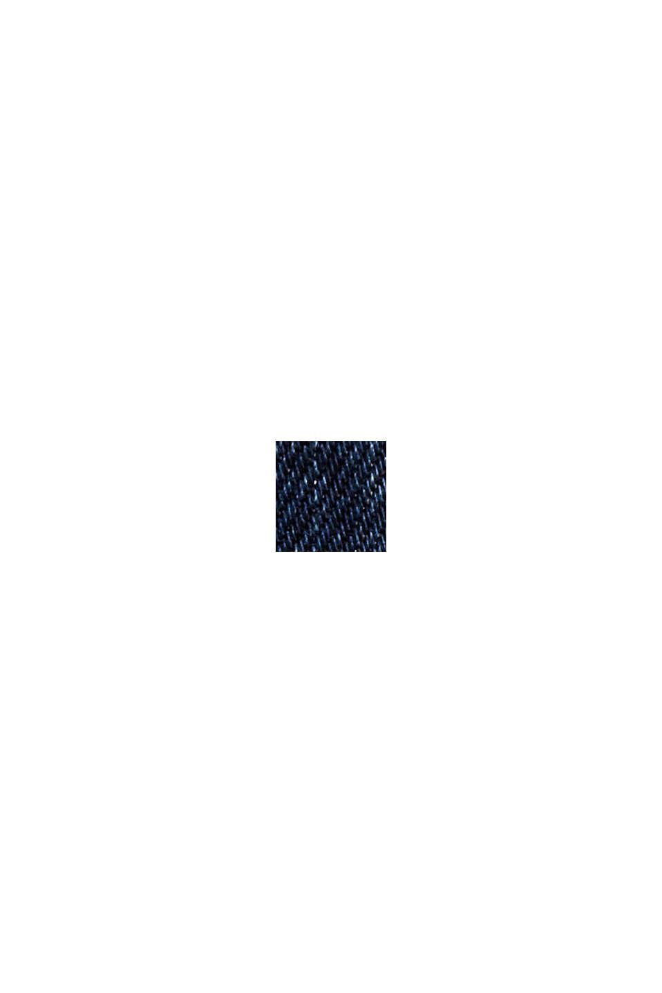 Stretchjeans van een mix met biologisch katoen, BLUE DARK WASHED, swatch