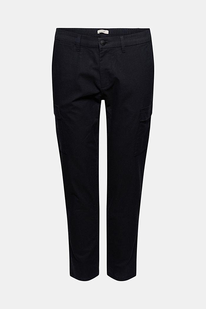 Pantalon cargo raccourci, à ceinture élastique