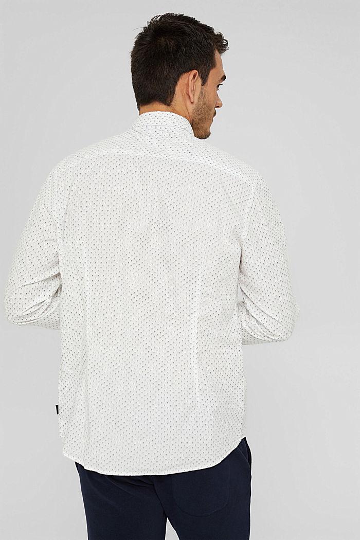 Button-Down-Hemd mit Print, 100% Bio-Baumwolle, OFF WHITE, detail image number 3