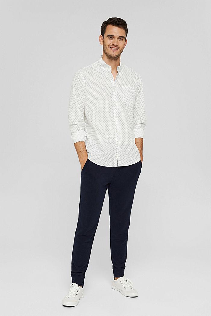 Button-Down-Hemd mit Print, 100% Bio-Baumwolle, OFF WHITE, detail image number 1