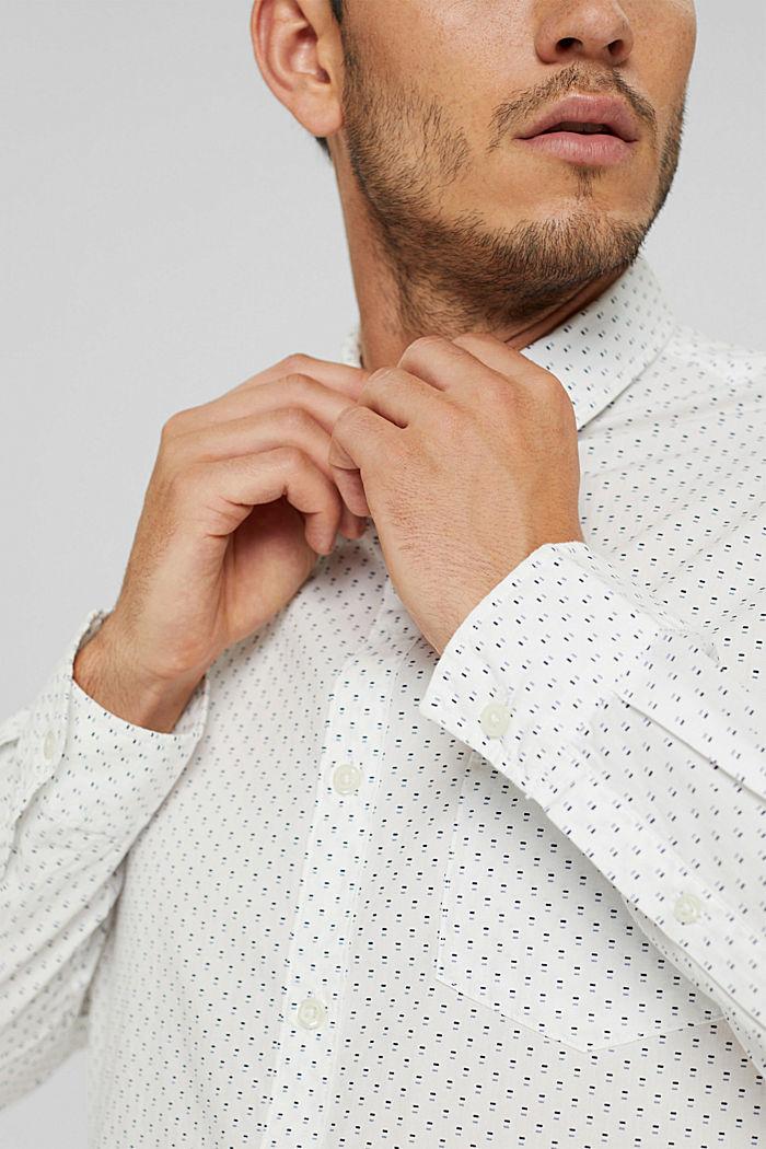 Button-Down-Hemd mit Print, 100% Bio-Baumwolle, OFF WHITE, detail image number 2