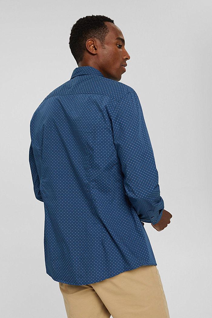 Button-Down-Hemd mit Print, 100% Bio-Baumwolle, DARK BLUE, detail image number 3