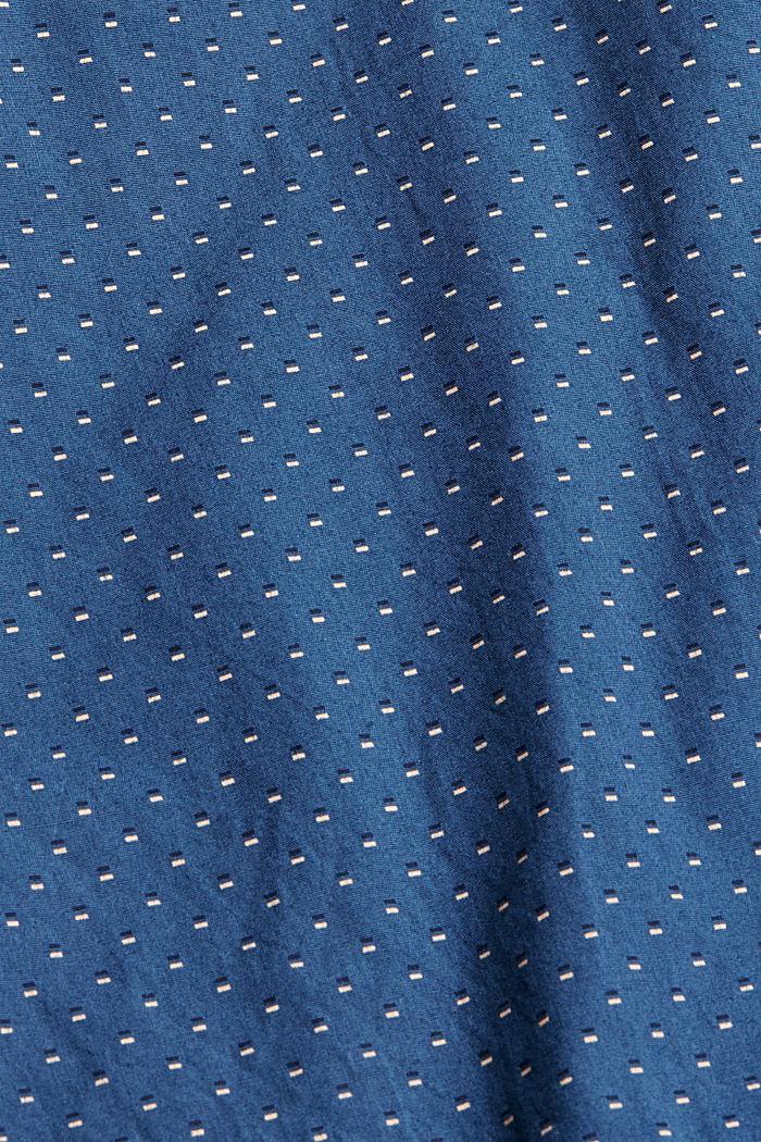 Button-Down-Hemd mit Print, 100% Bio-Baumwolle, DARK BLUE, detail image number 4