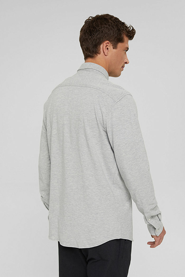 Jersey-Hemd aus 100% Baumwolle, LIGHT GREY, detail image number 3