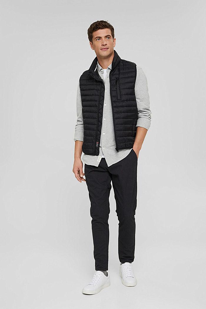Jersey-Hemd aus 100% Baumwolle, LIGHT GREY, detail image number 1