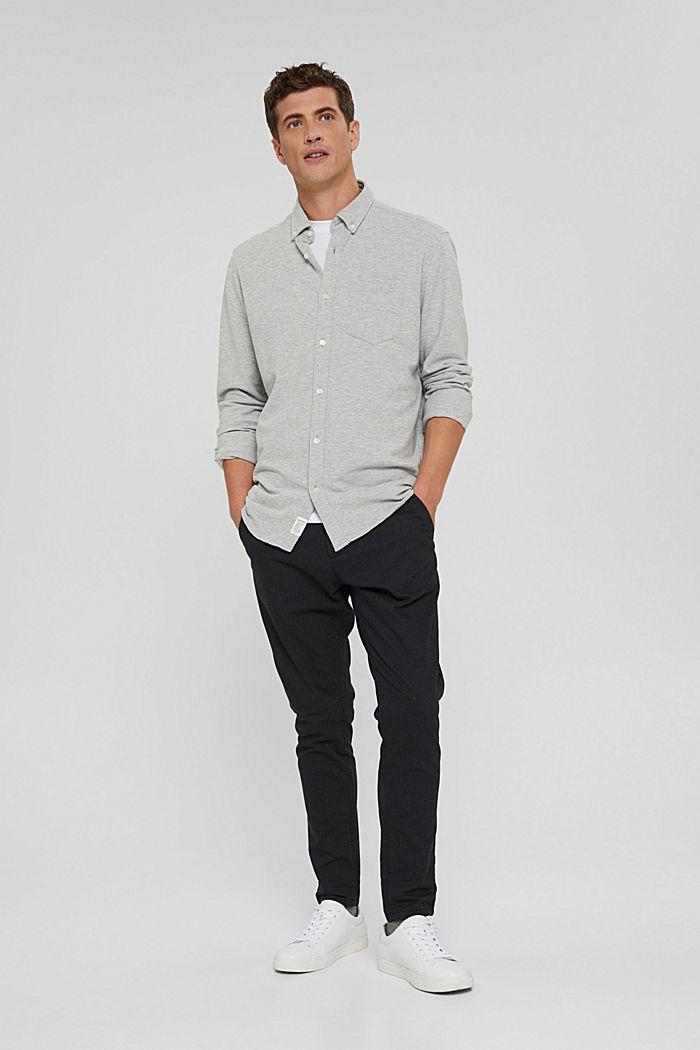 Jersey-Hemd aus 100% Baumwolle, LIGHT GREY, detail image number 7