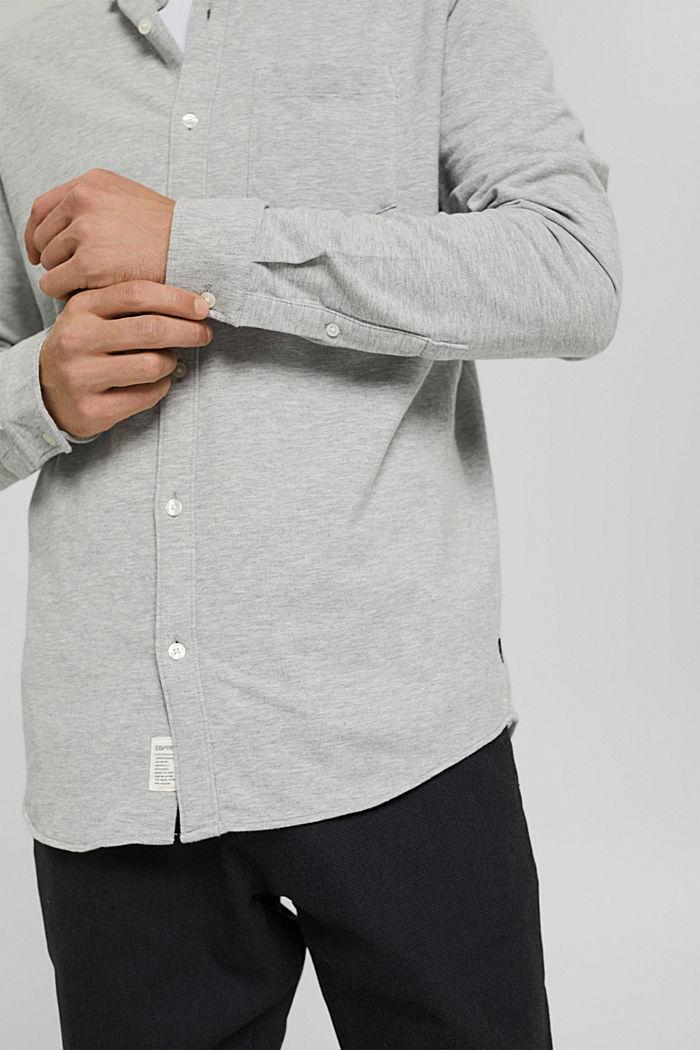 Jersey-Hemd aus 100% Baumwolle, LIGHT GREY, detail image number 2