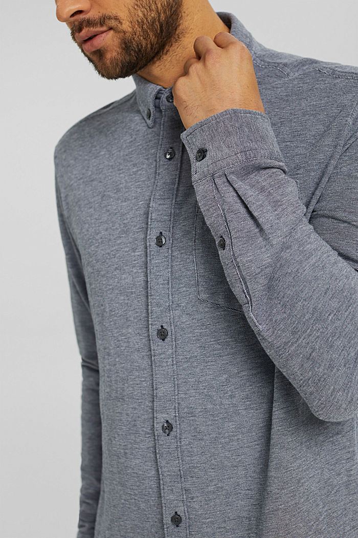 Jersey shirt made of 100% cotton, NAVY, detail image number 2