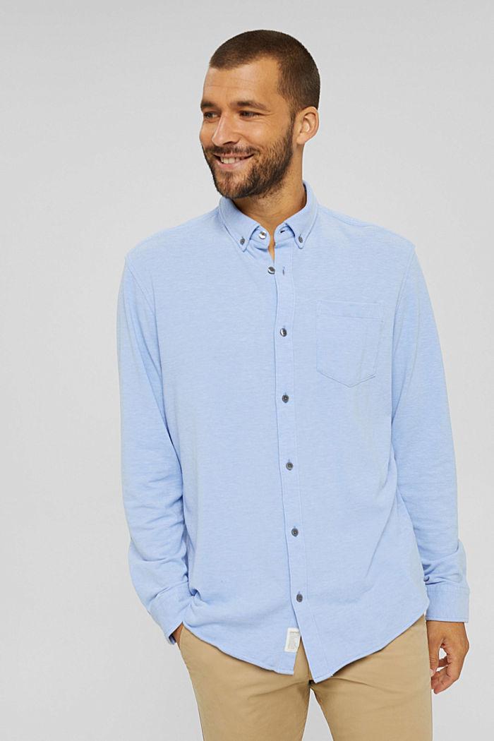 Jersey-Hemd aus 100% Baumwolle, LIGHT BLUE, detail image number 0