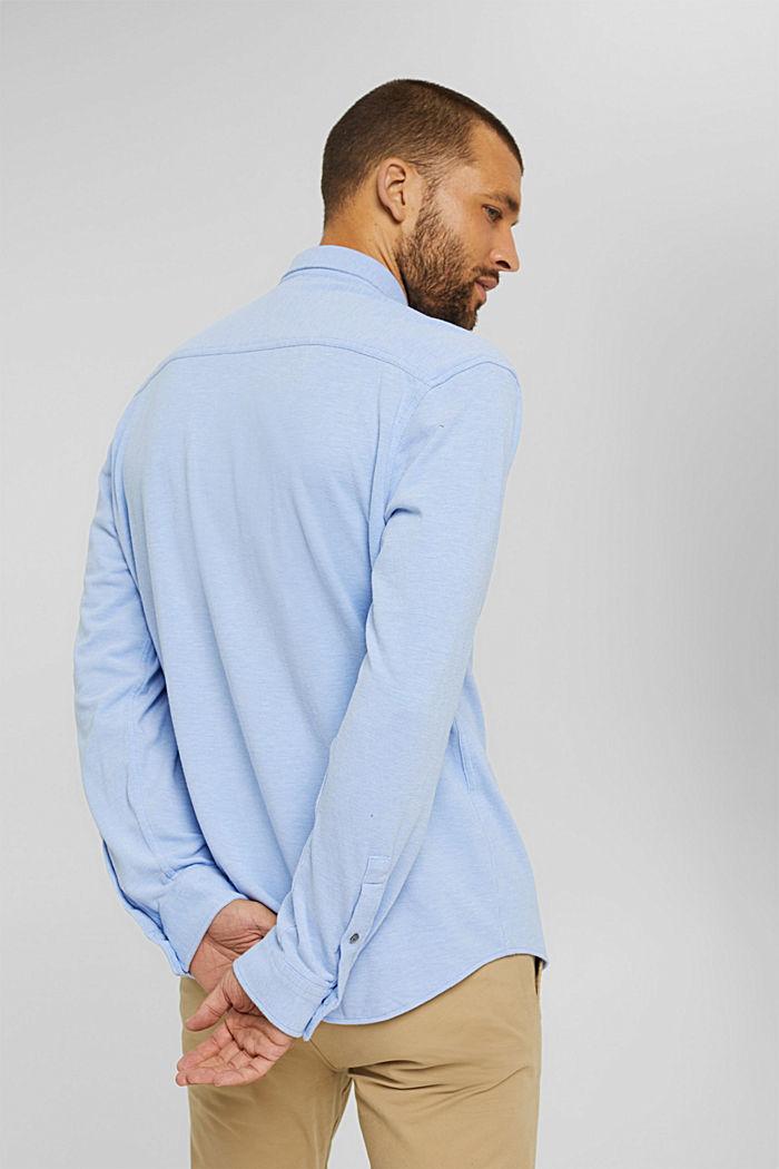 Jersey-Hemd aus 100% Baumwolle, LIGHT BLUE, detail image number 3