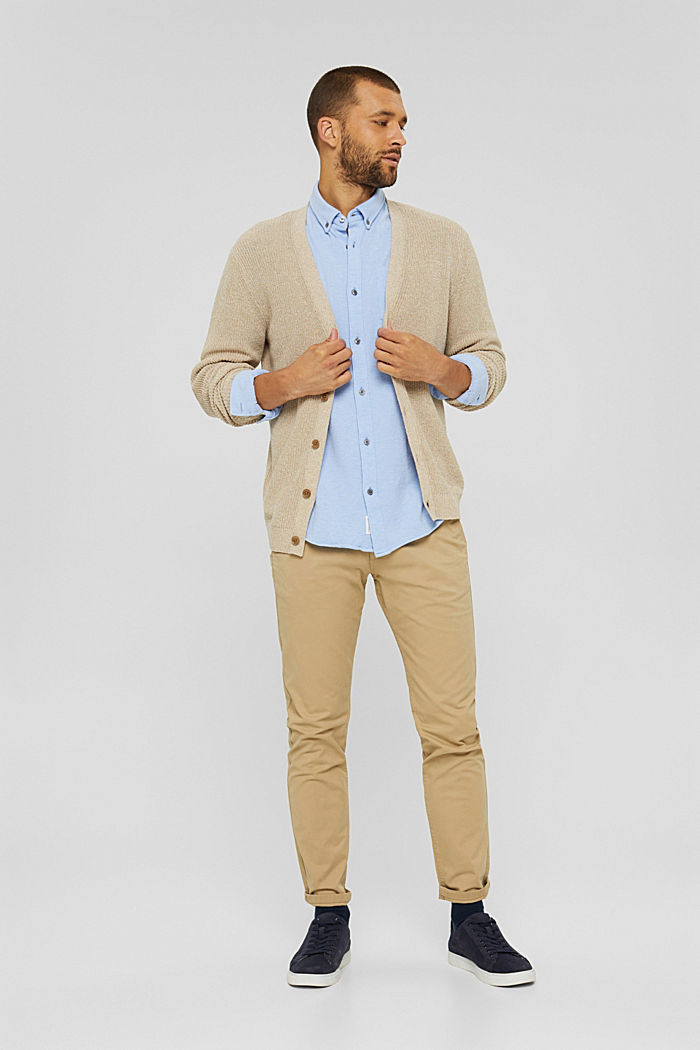 Jersey-Hemd aus 100% Baumwolle, LIGHT BLUE, detail image number 1