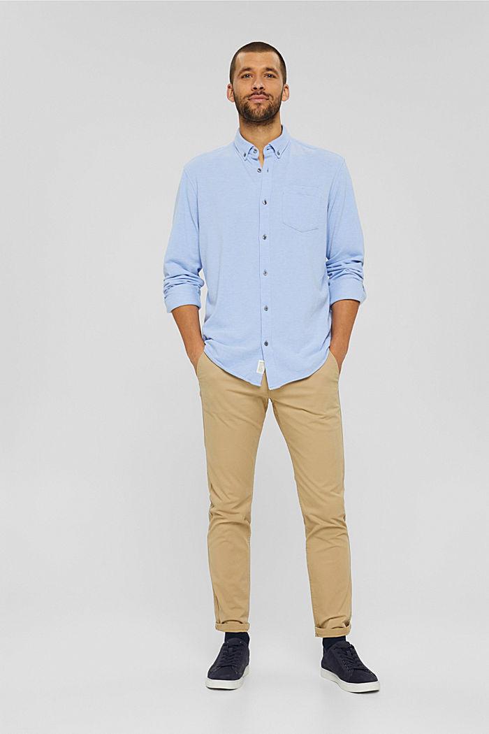 Jersey-Hemd aus 100% Baumwolle, LIGHT BLUE, detail image number 7