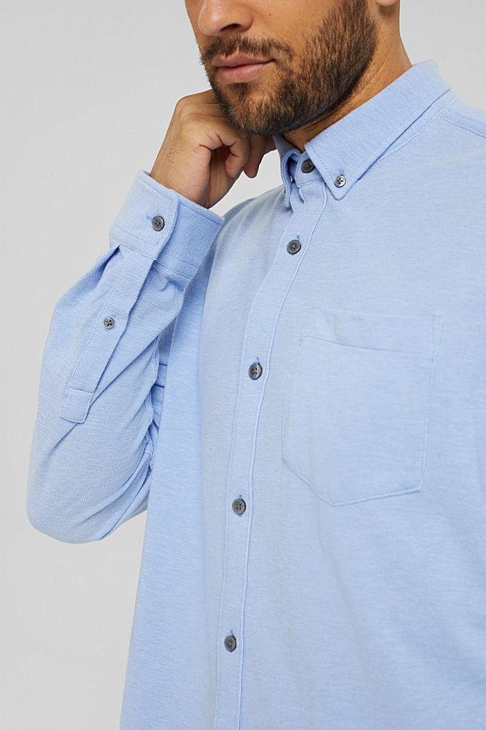 Jersey-Hemd aus 100% Baumwolle, LIGHT BLUE, detail image number 2