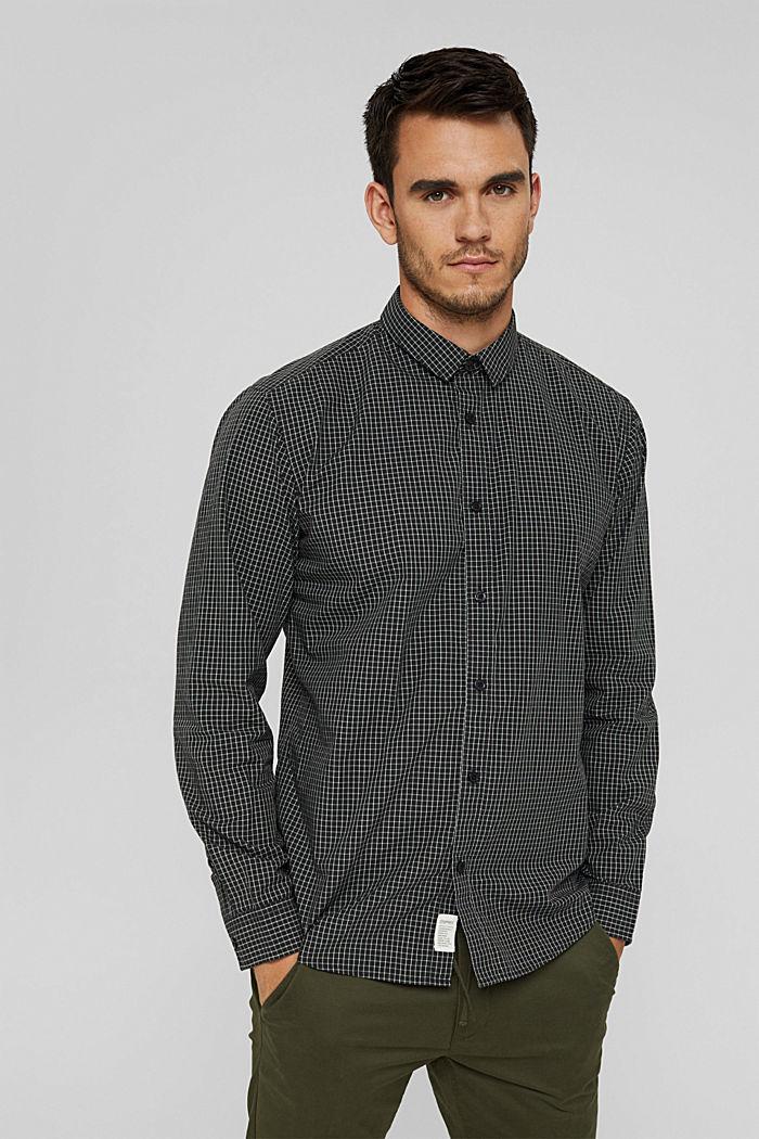 Kariertes Hemd aus 100% Bio-Baumwolle