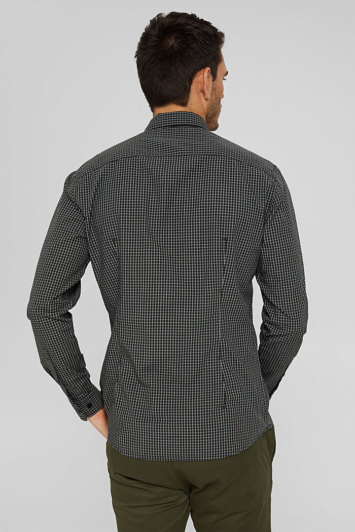 Checked shirt made of 100% organic cotton, BLACK, detail image number 3