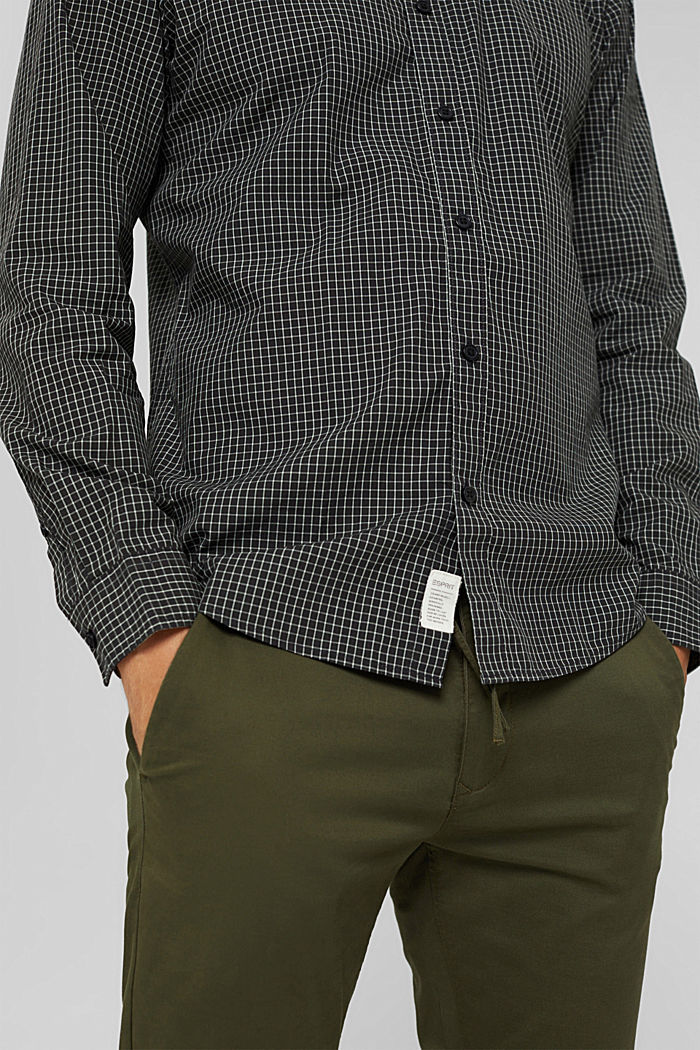 Checked shirt made of 100% organic cotton, BLACK, detail image number 2