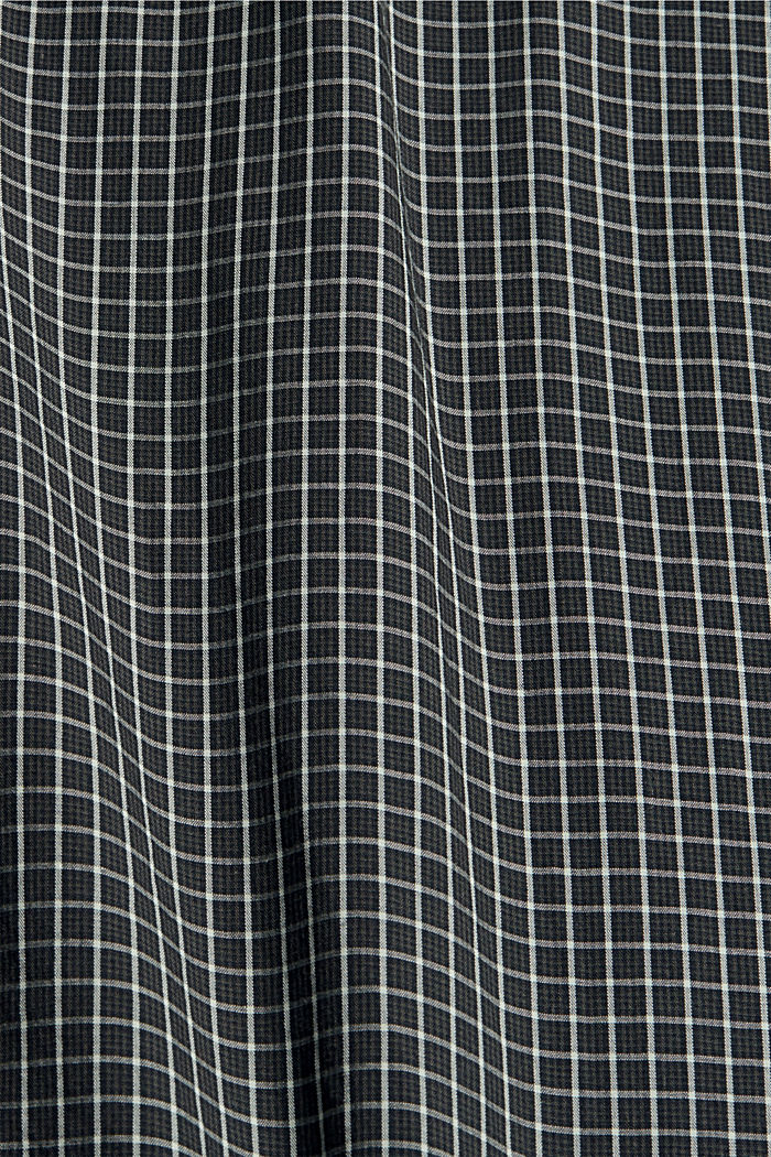 Checked shirt made of 100% organic cotton, BLACK, detail image number 4
