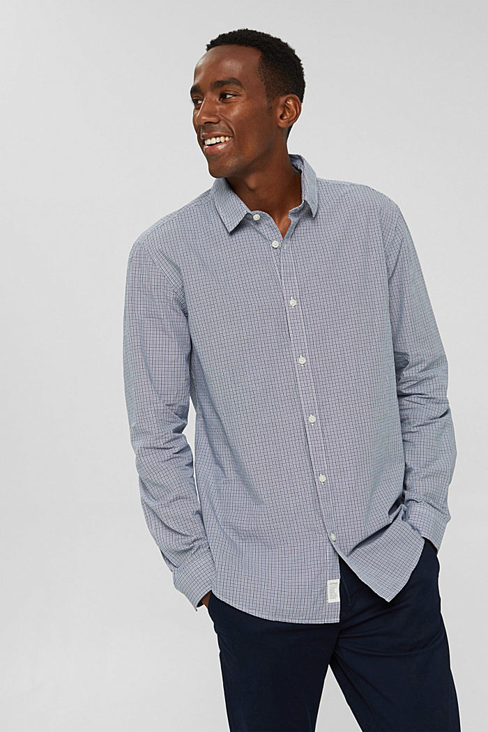 Checked shirt made of 100% organic cotton, WHITE, detail image number 0