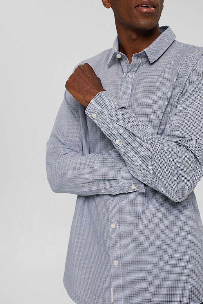 Checked shirt made of 100% organic cotton, WHITE, detail image number 2