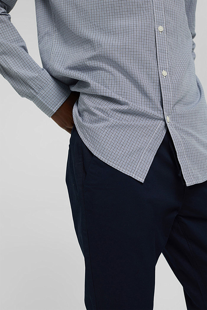 Checked shirt made of 100% organic cotton, WHITE, detail image number 5