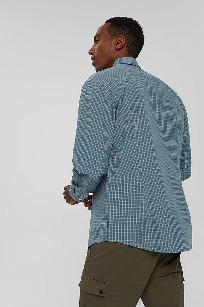 Kariertes Hemd aus 100% Bio-Baumwolle, PETROL BLUE, detail image number 3