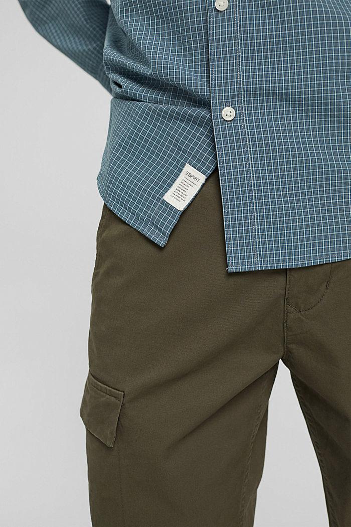 Kariertes Hemd aus 100% Bio-Baumwolle, PETROL BLUE, detail image number 5