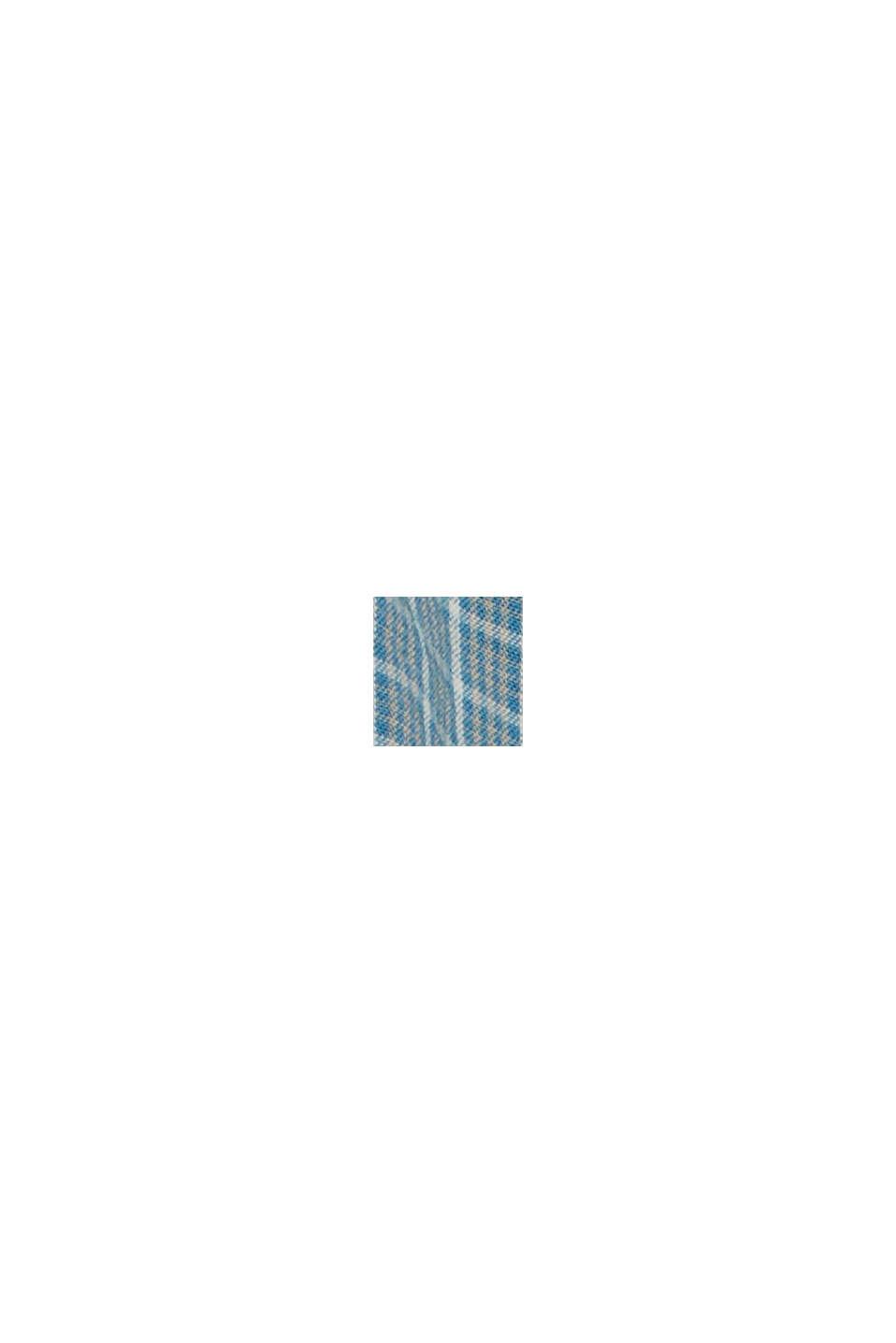 Geruit overhemd van 100% biologisch katoen, PETROL BLUE, swatch