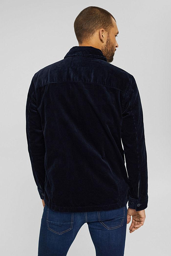 Cord-Overshirt aus Bio-Baumwolle, NAVY, detail image number 3