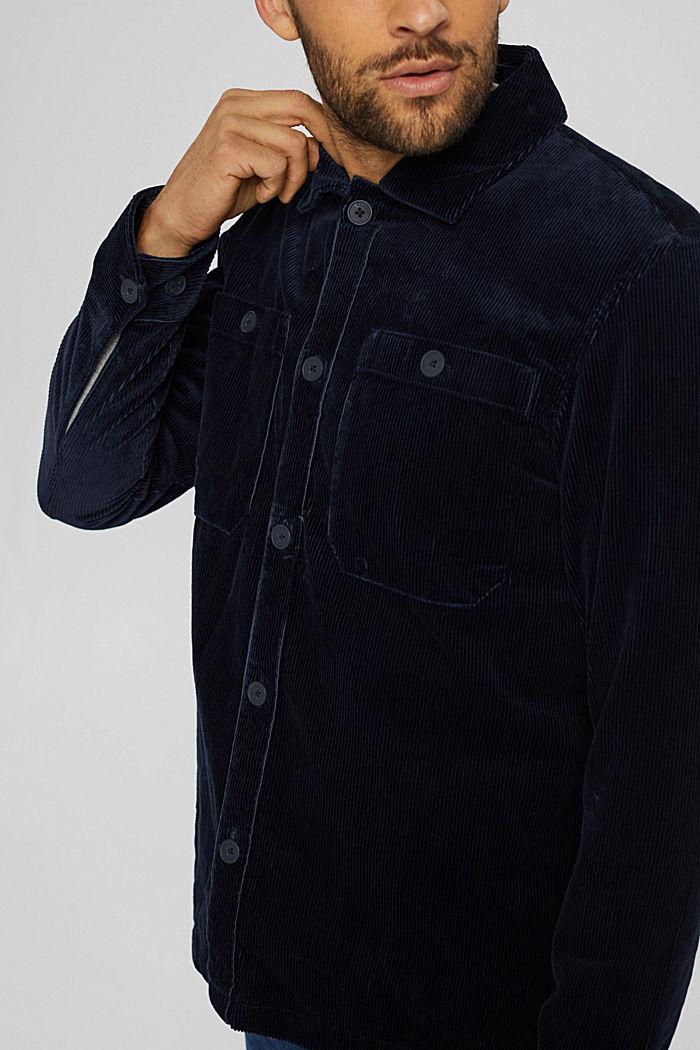Cord-Overshirt aus Bio-Baumwolle, NAVY, detail image number 2