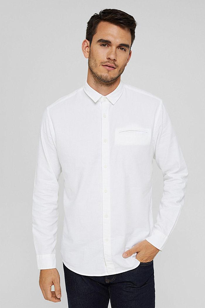 Struktur-Hemd aus 100% Organic Cotton, WHITE, detail image number 0