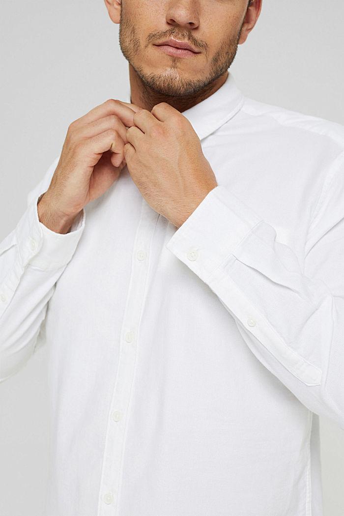 Struktur-Hemd aus 100% Organic Cotton, WHITE, detail image number 2