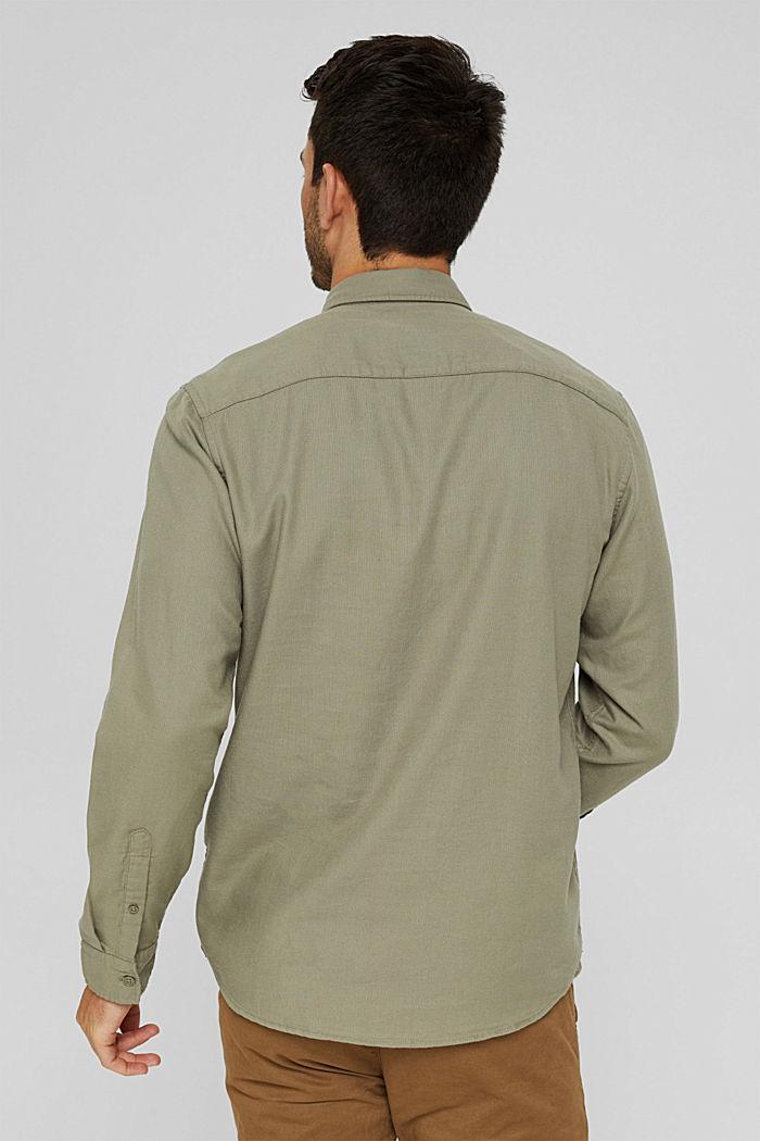 Struktur-Hemd aus 100% Organic Cotton, PALE KHAKI, detail image number 3