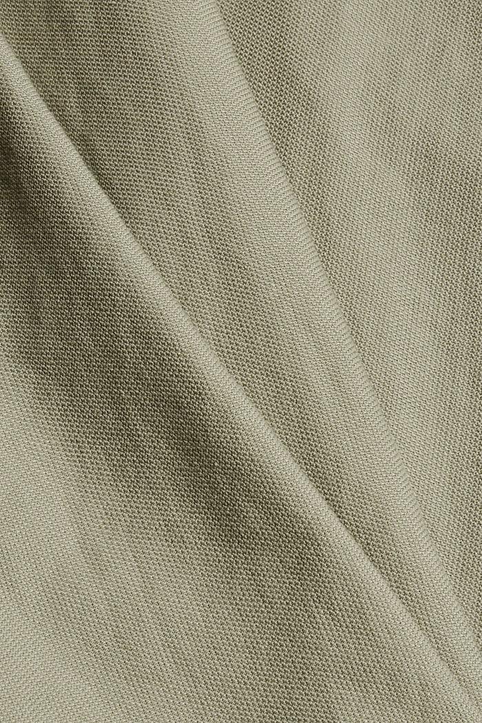Struktur-Hemd aus 100% Organic Cotton, PALE KHAKI, detail image number 4