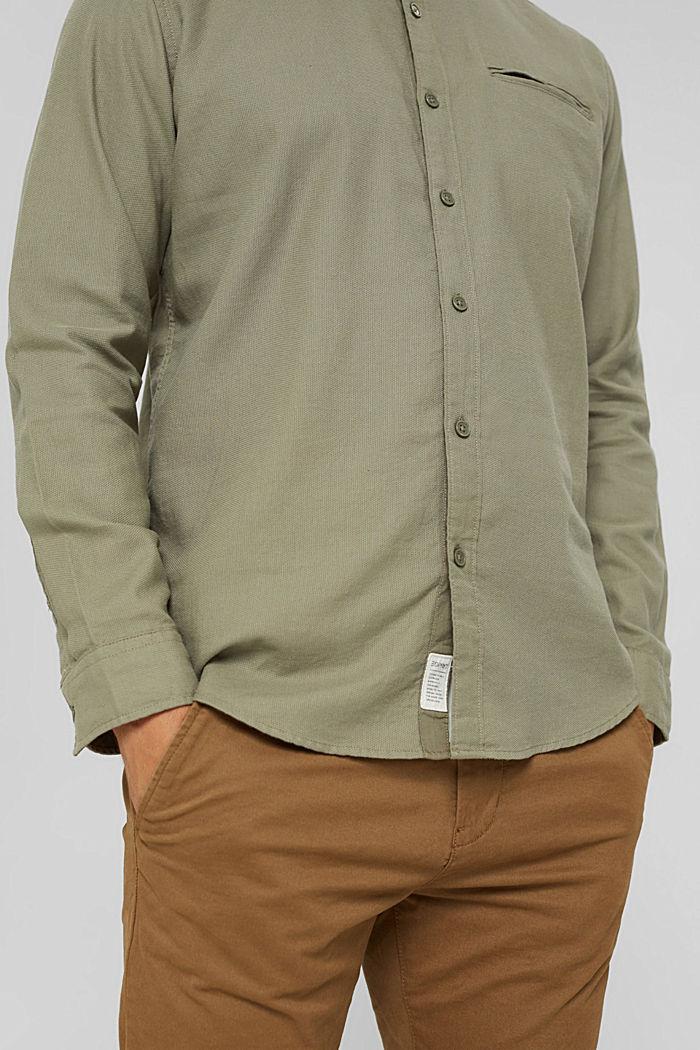 Struktur-Hemd aus 100% Organic Cotton, PALE KHAKI, detail image number 5
