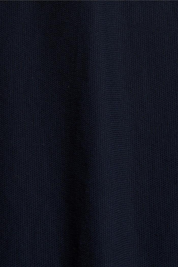 Gestructureerd overhemd van 100% biologisch katoen, NAVY, detail image number 4