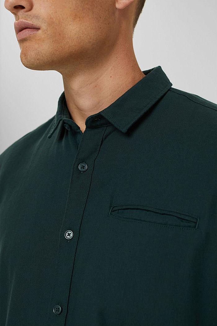 Struktur-Hemd aus 100% Organic Cotton, TEAL BLUE, detail image number 2