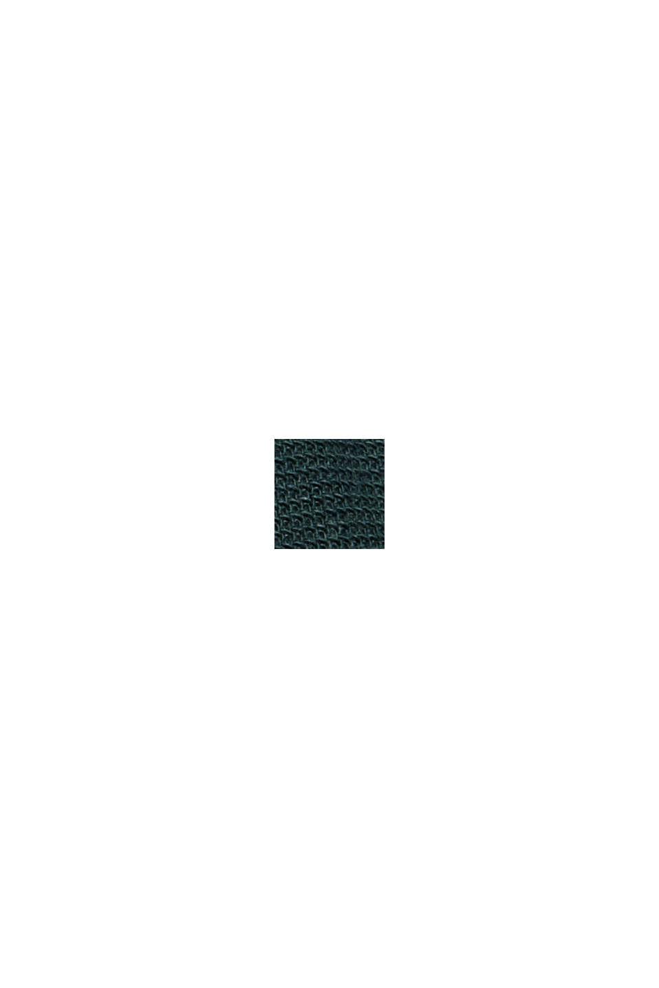 Struktur-Hemd aus 100% Organic Cotton, TEAL BLUE, swatch