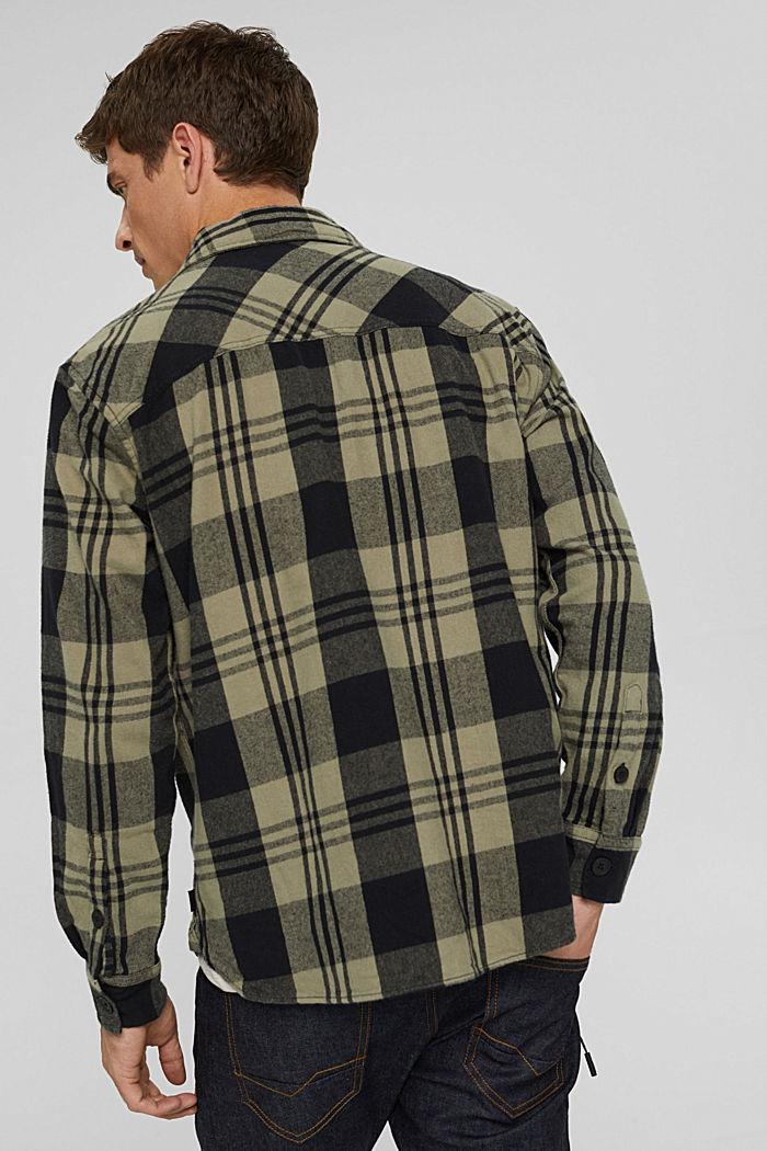 Kariertes Overshirt aus Bio-Baumwolle, BLACK, detail image number 3