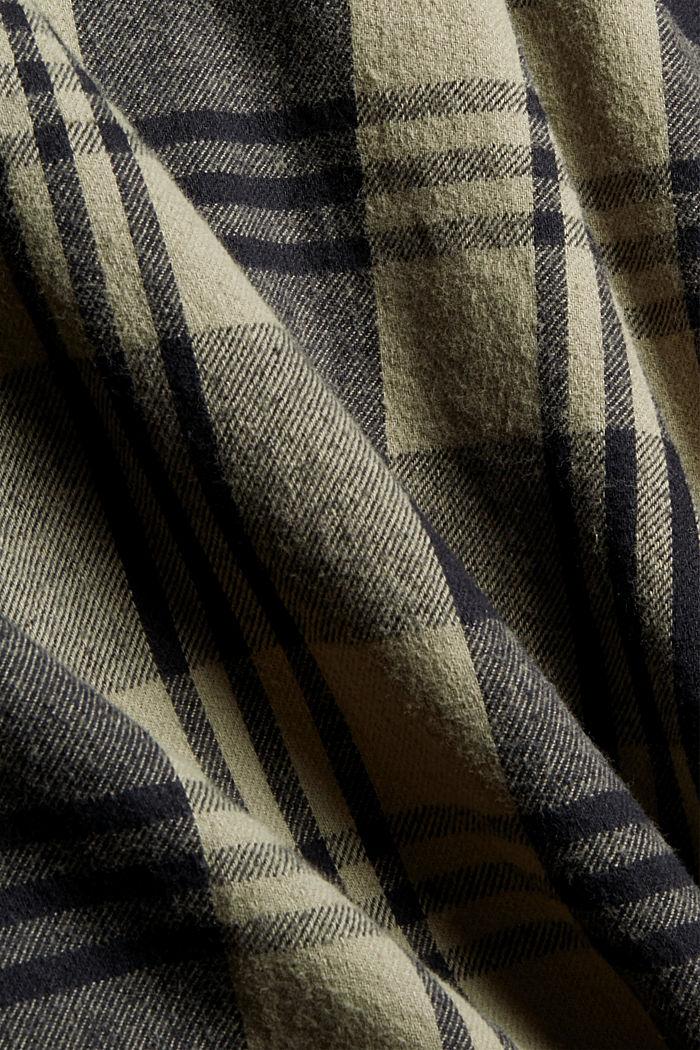 Kariertes Overshirt aus Bio-Baumwolle, BLACK, detail image number 4