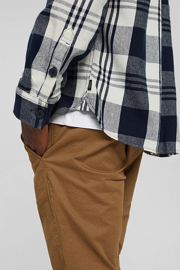 Kariertes Overshirt aus Bio-Baumwolle, NAVY, detail image number 2