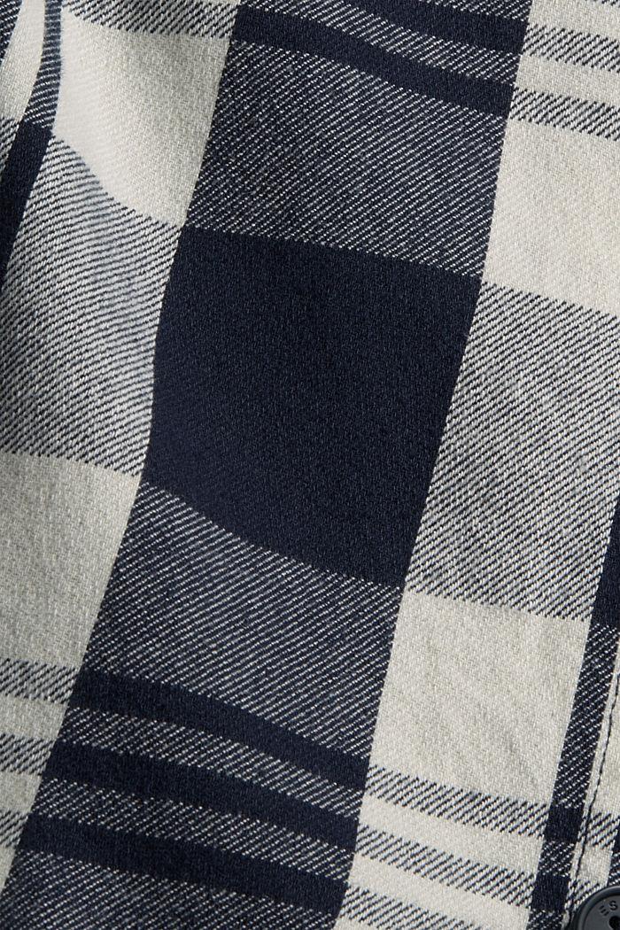 Kariertes Overshirt aus Bio-Baumwolle, NAVY, detail image number 4